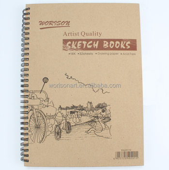 Oem Sketch Pad/sketch Book/color Pencil Box Winding Drawing Paper ...