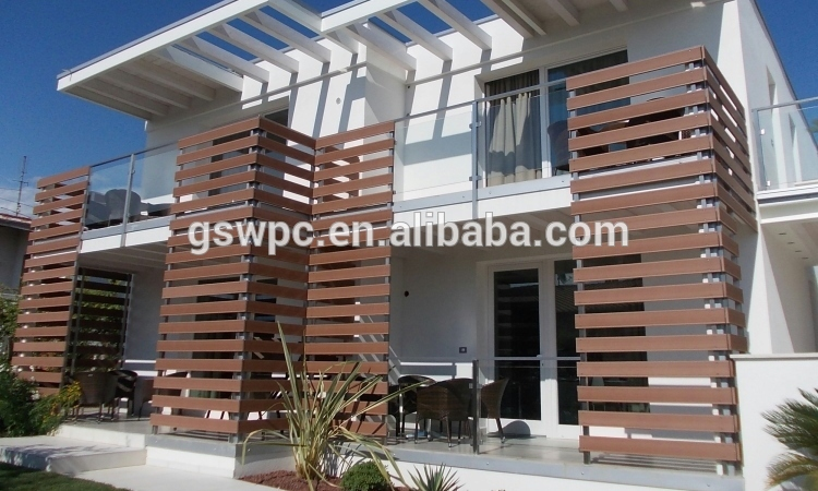 Charming Pvc Composite Wood Plastic Composite Exterior Wall Panel Wood Grain Surface  Wpc Wall Cladding