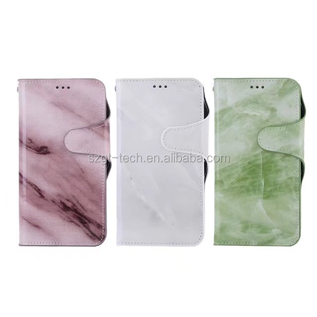 Hot sale marble leather case for iphone8,newest design for iphone 8 wallet leather case