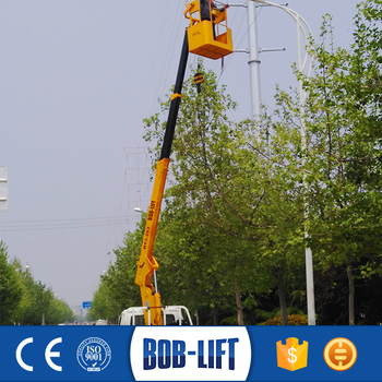 Container Lifting Telescopic Boom Mobile Basket Crane
