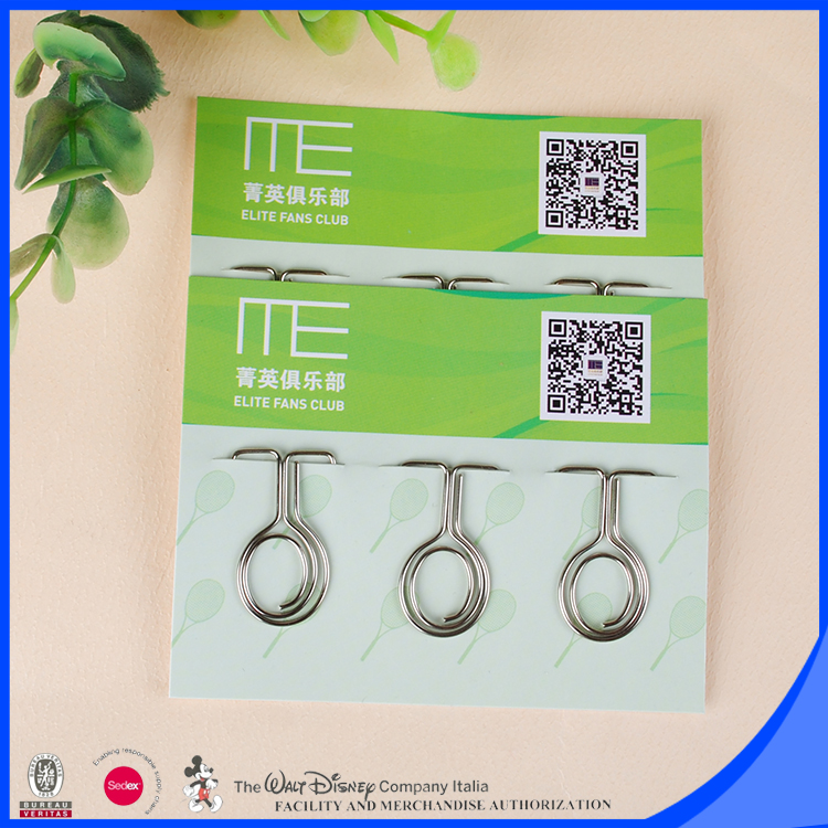Wire products shaped clips advertisement stationery