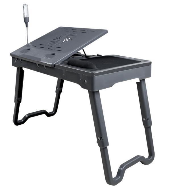 노트북 테이블 침대, 홈 사무실 노트북 PC 무릎 데스크 스탠드 마우스 패드, 책 스탠드 및 아침 봉사 침대 트레이