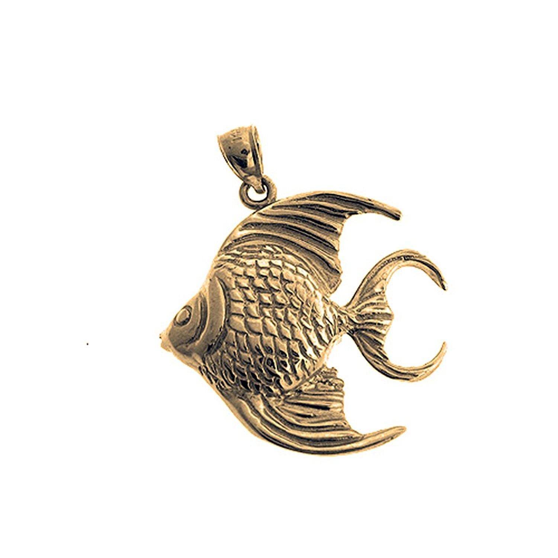 Jewels Obsession Mahi Mahi Pendant Sterling Silver 20mm Mahi Mahi with 7.5 Charm Bracelet