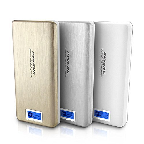 2A DUAL USB POWER BANK 20000MAH!Power bank 18650 display with flashlight SILVER GOLDEN cheaper than Vinsic Xiaomi POWER BANK