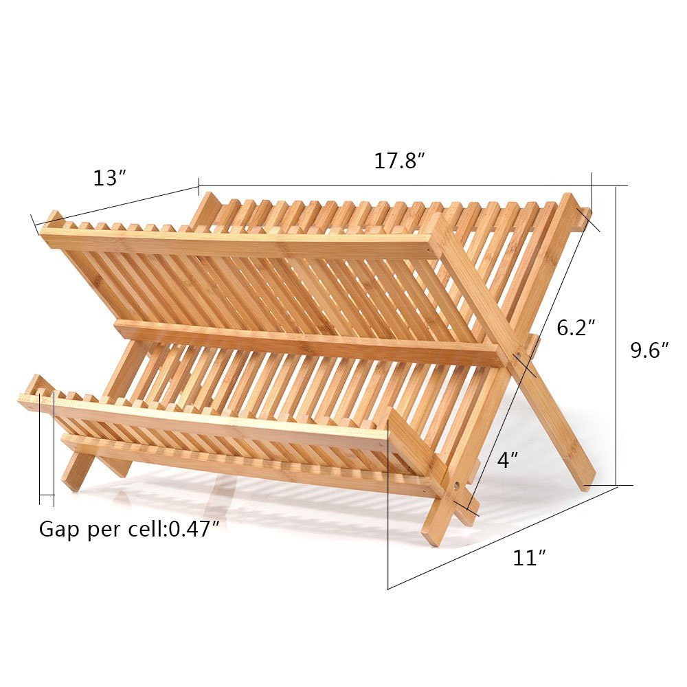 hot selling bamboo dish rack kitchen copper dish rack for high quality 5