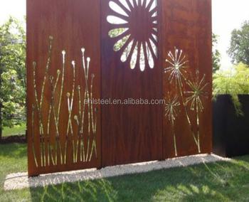 Decorative Corten Steel Garden Fence Antique Privacy