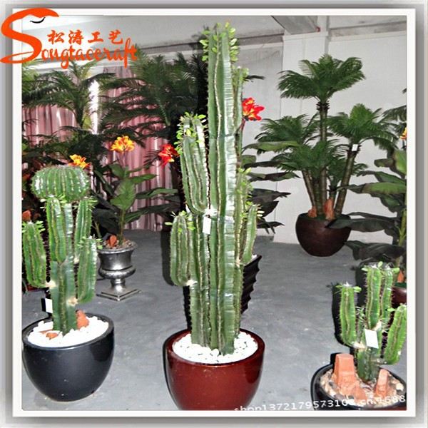 China Factory Wholesale Cheap Artificial Outdoor Cactus Plants Plastic For Home Garden Decoration