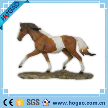 Custom resin horse statues for home decor, Wholesale horse figure, Life size resin animal figurines for sale