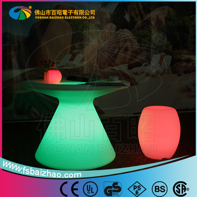 mushroom shape glowing led table water proof