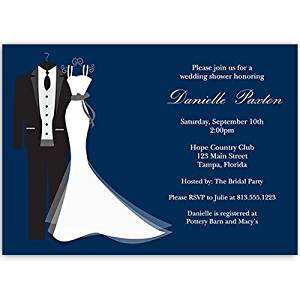 Cheap wedding dress with navy blue find wedding dress with navy get quotations bridal shower invitations dress tux navy blue wedding couple 10 filmwisefo