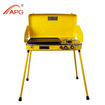 Portable Gas Grill Free Standing Gas Stove Griddle and Grill Stove Stainless Steel Gas Stove