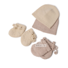 hot sell cute baby cashmere wool cable knit winter warm cashmere baby beanie scarf blanket socks set