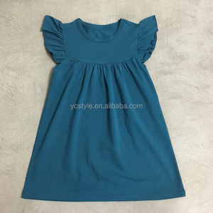 2018 frock design for baby girl pearl dress, wholesale Girl boutiquie clothing