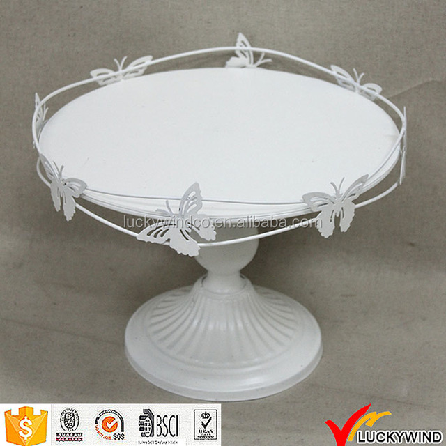 Butterflies White Decor Pedestal Round Plate Wedding & Buy Cheap China decorative white plates Products Find China ...