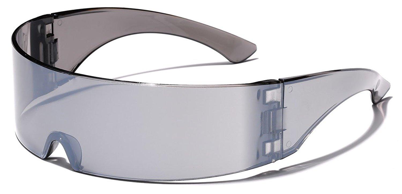 c757e852dd4 Buy Futuristic Cyclops Shield Sunglasses For Cosplay Mirrored Lens ...