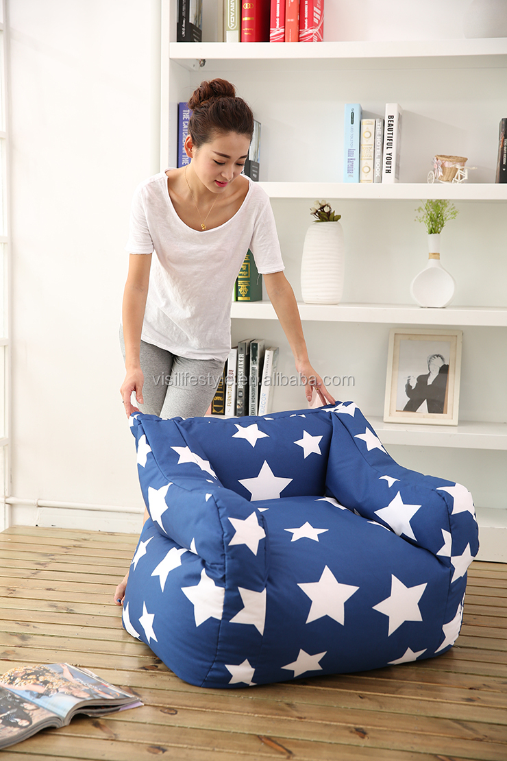 Visi Star Bean Bag Armchair Recliner Indoor Furniture Cover Wholesale