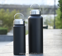 High quality Metal cap double wall vacuum stainless steel sports water bottle