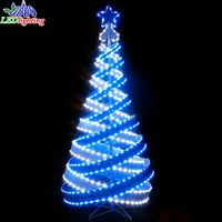 2017 New design artificial spiral structure christmas tree