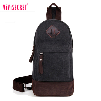 8bc40ace78 Men s Bosom Chest Bag Canvas Running Pouch Casual Leisure Single Strap  shoulder Bag