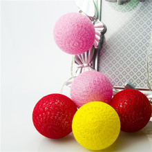 Fashionable Battery Powered Cotton Ball Led String Light Chain