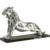 Modern Abstract Life Size Stainless Steel Polished Panther Statue