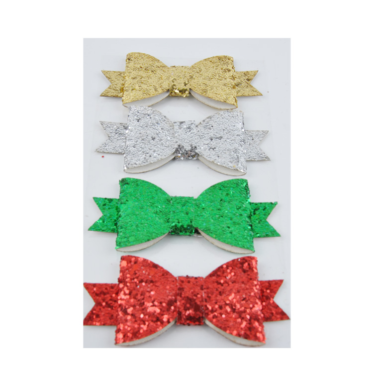 4pk big size colorful self adhesive glitter bow