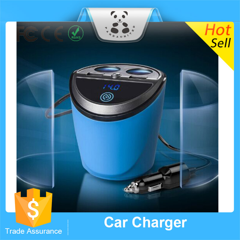 A18 Cup Style Car Charger 2 In 1 Cigarette Lighter Splitters For ...