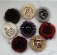 Newest Top Quality Luxury Mink Fur Ball Genuine Fur Pom poms Apparel Accessories