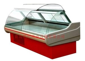 deli case/supermarket refrigerator showcase/curved glass serve over cooler/display cooler