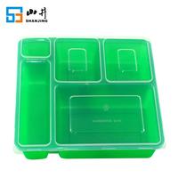 Amazon best seller 5 compartment plastic bento lunch box Microwave safe food containers