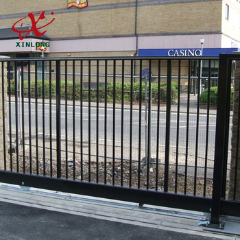 Best Price Powder Coated Modern Iron House Sliding Gate Design For