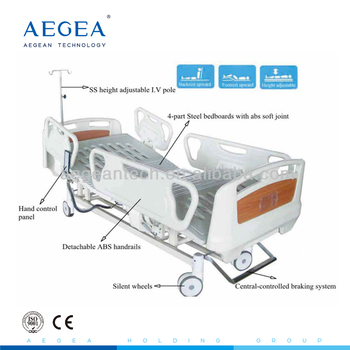 AG-BM102A central braking ABS Siderail 3-function electric hospital bed model