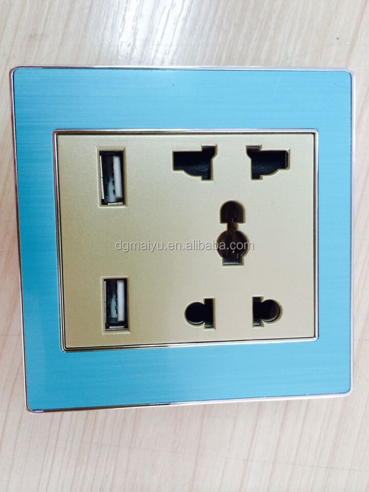 Hot! Australia Dual Usb Port Electric Wall Charger Socket ...