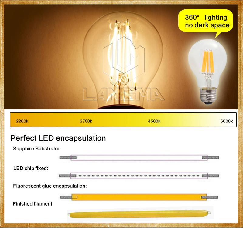 Wholesale LED Filament Light Bulb Lamp Nostalgic Edison Style E26 ...