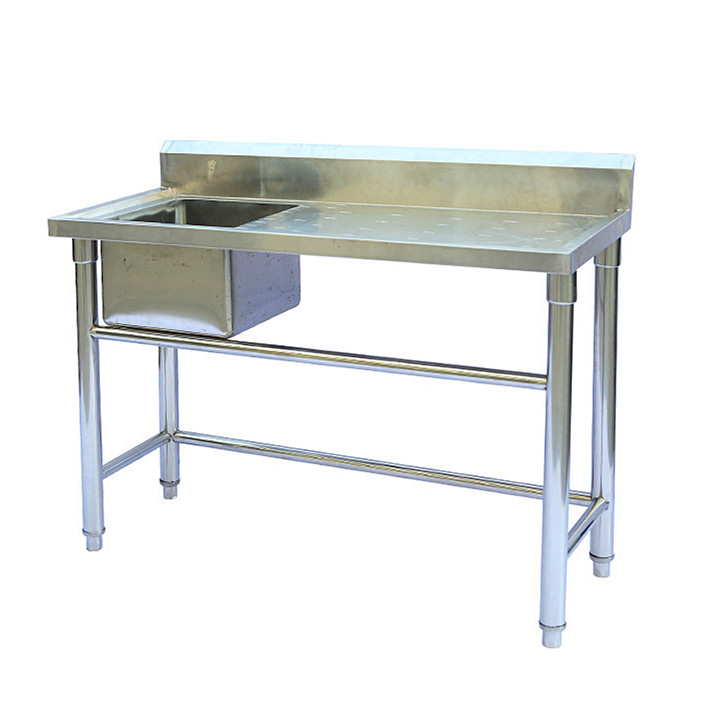 single sink with table fish cleaning stainless steel kitchen sink with work table