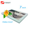7Inch TFT HD touch screen video card for business advertisement promotion