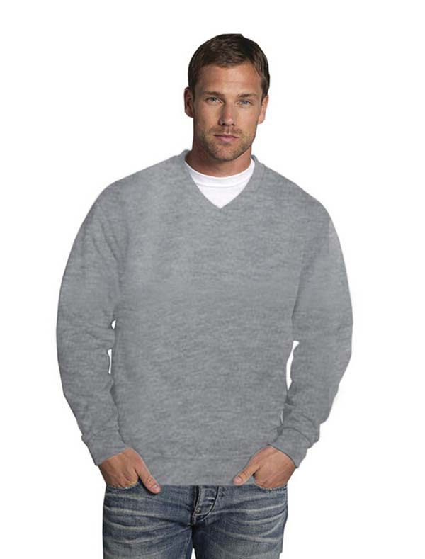Classic blank men's v neck fleece pullover sweatshirt, View v neck ...