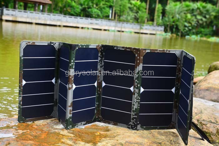 Canton Fair Best Selling Product Portable 40W Solar Panel Foldable With Outlet And SAE Compatible Interface