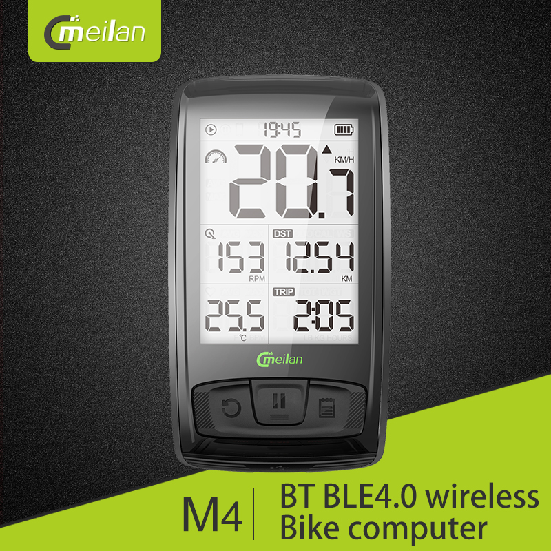 Mountain Bike Accessories Meilan C1 Analog Sensor Bluetooth Speed Cadence in Cycling