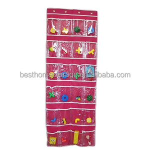 24-Pocket Polyester Home Decoration Wall Hanging Bag Wall Shoe Organizer Sundries Storage bag