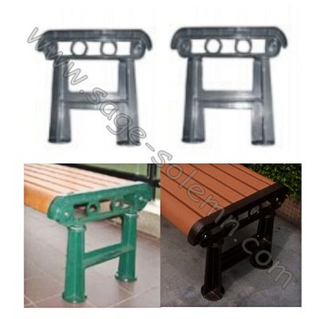 Top Sale Cast Iron Bench Legs, Cast Iron Bench Leg Without Back