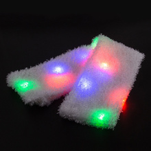 HZW-18001 Halloween Costume Party Toys Christmas LED Flashing Light Up Scarf