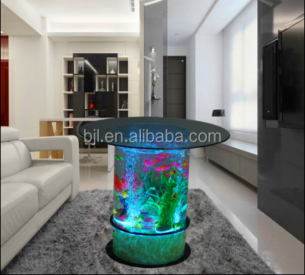 Led Light Table Water Bubble Round Living Room Furniture Design ...