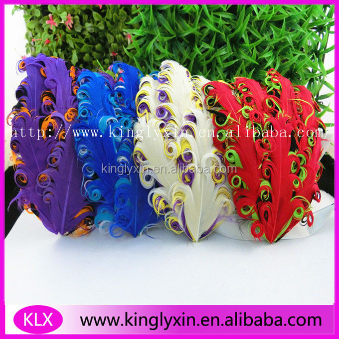 fashion Nagorie goose Feather Pad For Hair Accessory