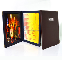 restaurant menu with LED back lights quality guaranteed