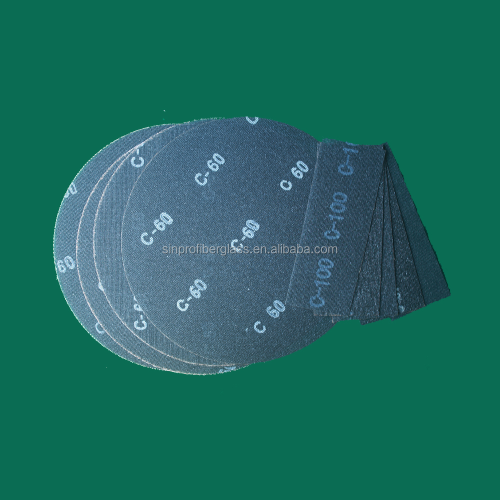 Abrasive Glass Sanding Screen Mesh Discs / Rolls / Sheets