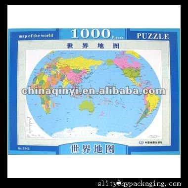 World Map paper puzzle,geography puzzle for kids