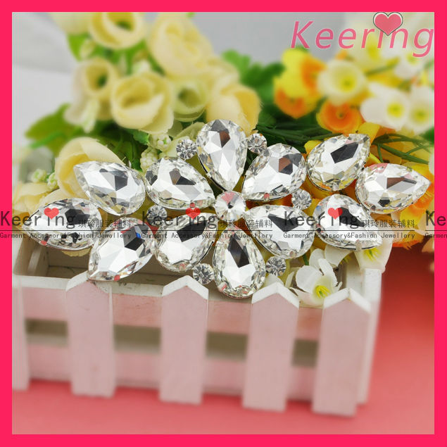 Fashion Clear big Glass Rhinestone WRE-001