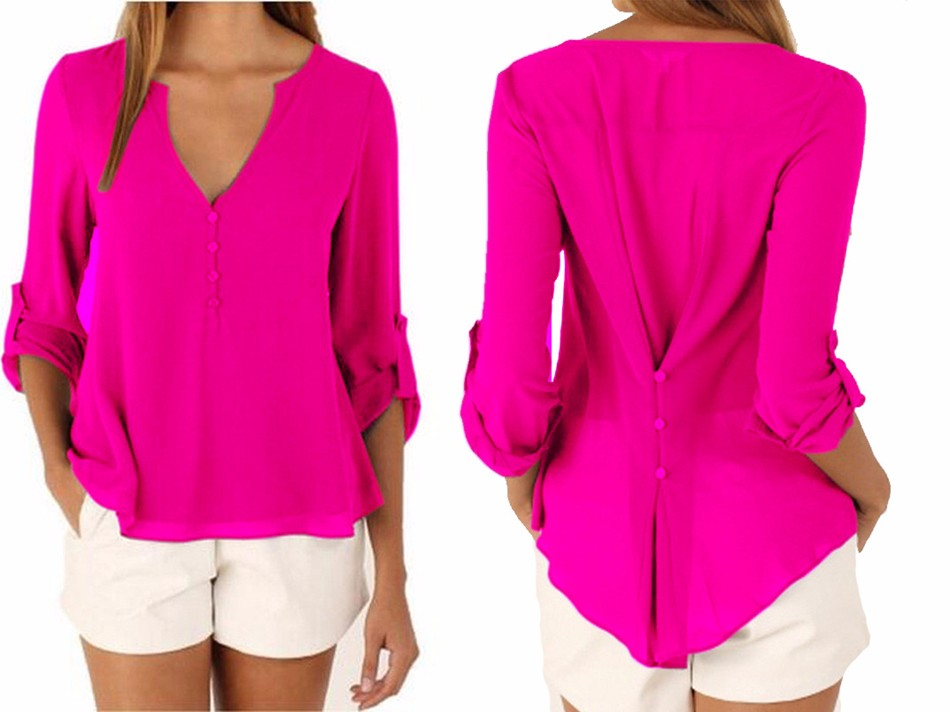 1a5e64fd5cd Ladies Formal Shirt Design V-neck Latest Top Designs - Buy Women s ...