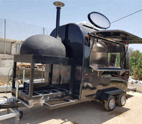 Unique design food truck mobile pizza carts fast food for sale usa vending truck pizza trailer for sale